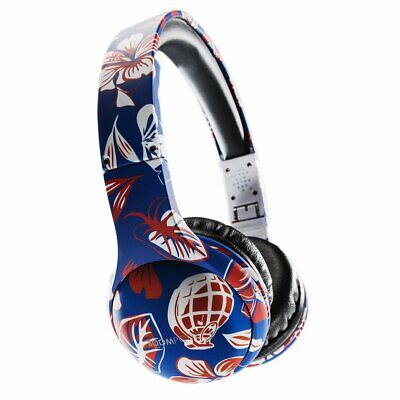 Boompods Casque Motif Trainerspotter Taille Unique Red/Blue Hawaiian (9ja)