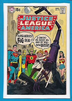 Justice League Of America #73_August 1969_Vf Minus_Black Canary_Wonder Woman!