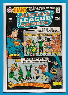 Justice League Of America #76_December 1969_Fine_Lois Lane_Silver Dc Giant_G-65!