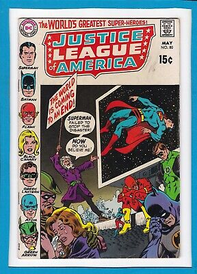 Justice League Of America #80_May 1970_Vf Minus_The Atom_Batman_Flash_Superman!