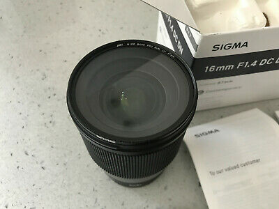 Sigma 16mm F1.4 DC DN Contemporary Lens Sony E mount Fit - MINT