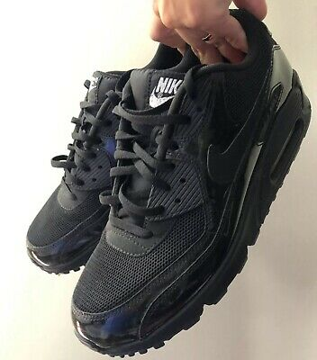 e3df0ec45a Nike Air Max 90 Shoes VT2 Luxe Womens Black Patent Iridescent Hologram  Sneakers