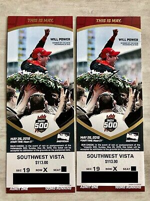 TWO INDY 500 TICKETS 2019–Southwest Vista GREAT VIEWS