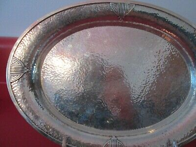 WALLACE - HAND WROUGHT - STERLING - ARTS & CRAFTS PERIOD - 10 1/2 in TRAY no mon