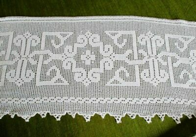 Antique Hand Crochet Large Edge For Tablecloth