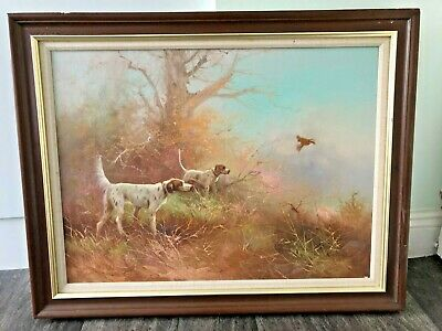 Original Martin Kingman Oil Painting of Hunting Dogs
