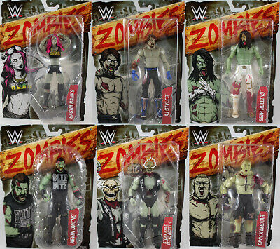 WWE Zombies Series 2 - Complete Set of 6 Mattel Toy Wrestling Action Figures