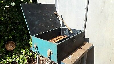 Nice Old Wooden Toolbox with removable insert and rope handles