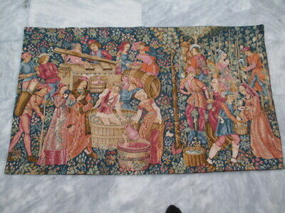 5014 - Old French / Belgium Tapestry Wall Hanging - 120 x 71 cm