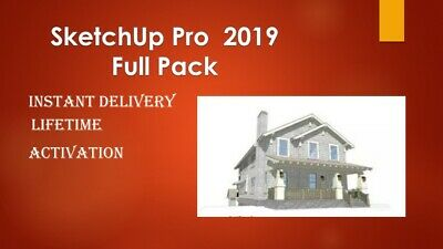 SketchUp Pro 2018/2019 License Win  64bits LifeTime