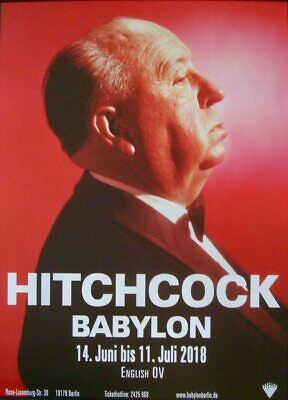 Alfred Hitchcock Festival Allemand A1 Affiche Film 2018 NM