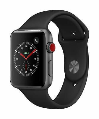 Apple Watch S3(GPS+Cellular 42mm)Space Gray Aluminium -Black Sport Band *SEALED*
