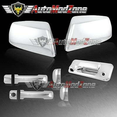 14-19 TUNDRA Double Cab Chrome Ful Mirror+4 Door Handle+Tailgate+Taillight Cover