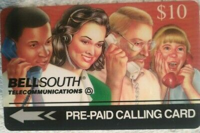 Bell South Pre-Paid Calling Card, 1994 Vintage Collectible                (P)