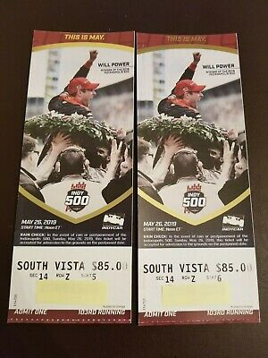 2019 Indy 500 Tickets (2 Tickets)  South Vista with parking pass