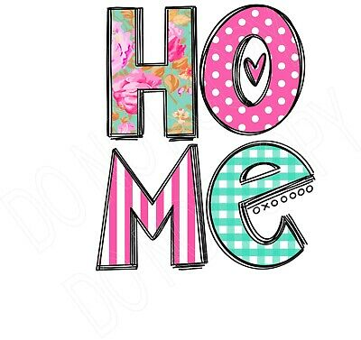 Home Shabby Chick Pink  water slide decal ready to use