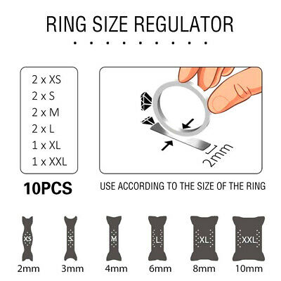 Hot 10PCS Reducer Resizer Adjuster Ring Size Clip Guard Invisible Design