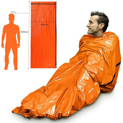 Emergency Sleeping Bag Thermal Waterproof For Outdoor Survival Camping Hiking Yc