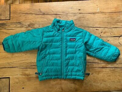 3d9e1625d PATAGONIA BABY DOWN Sweater Coat Size 18M Green Puffer Jacket ...