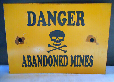 Danger Mine Shafts  Shed Farm Caution Warning Rustic Tin Sign Freepost Australia