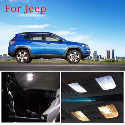 Fits For 2005-2010 Jeep Grand Cherokee White LED Lights Interior Package Kit