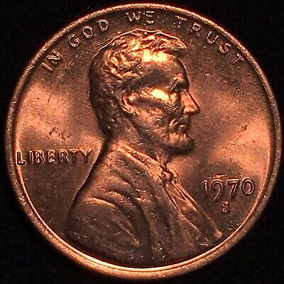 """1970 S Lincoln Cent Ddo Double Die Obverse Superb Ms """"Wicked Rare"""" Bu Gem ++++++"""
