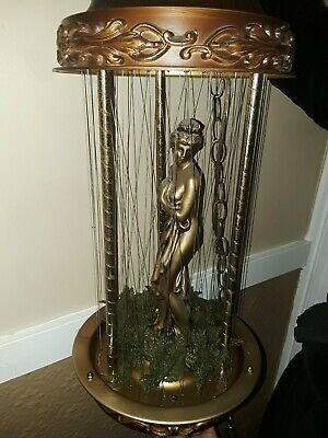 VINTAGE MINERAL OIL RAIN DRIP DROP Hanging LAMP GREEK GODDESS Motion LIGHT 30""