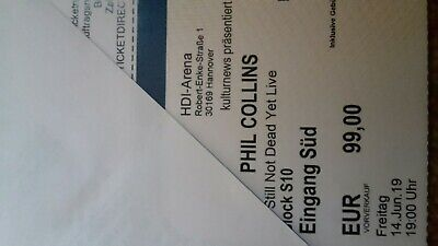 Phil Collins Konzertticket  block s10 14.6.19 Hannover