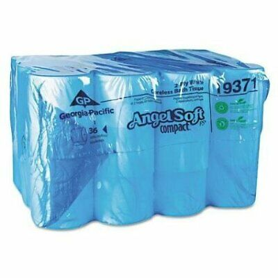 Angel Soft PS compact Toilet Tissue 2-Ply Coreless Roll 3.85 X 4.05 Inch CS/36