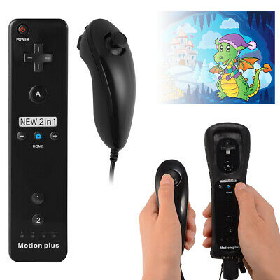 Wiimote Built in Motion Plus Inside Remote + Nunchuck Controller for Wii AC618