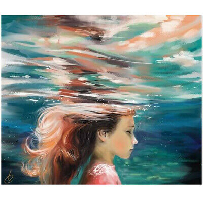 Canvas Painting Girl Underwater Poster Living Room Bedroom Wall Home Art Decor