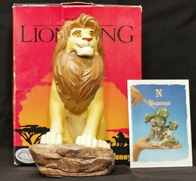 New Extremely Rare! Walt Disney The Lion King Simba Hand Painted Figurine Statue