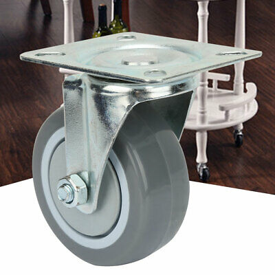 4pcs 3-inch PVC Metal Casters Wheels Swivel Casters for Trolleys High Quality