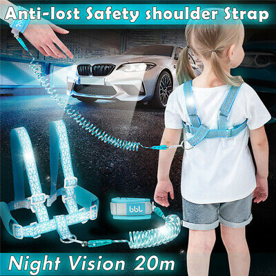 Reflective Child Anti-lost Safety Shoulder Wrist Link Strap Rein Traction Rope