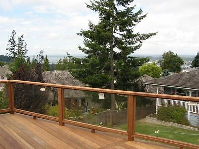 Glass Balustrade Panels- 1995x1000mm -10mm Toughened Glass - brackets included