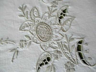 Vintage Tablecloth Hand Embroidered Madeira Style