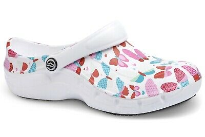 Toffeln Ezi Klog Pro Air 0815 - Butterfly Pattern - Womens Washable Shoes
