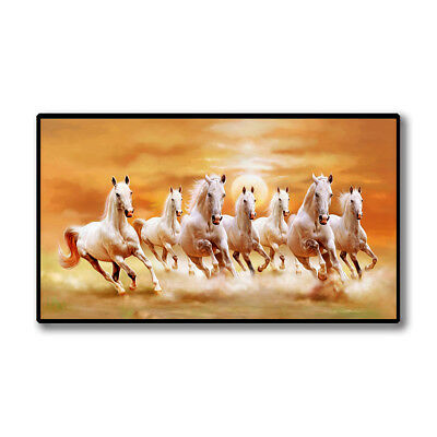 Modern Running Horses Canvas Wall Painting Picture Poster Living Room Decor Eyef