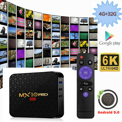 2019 MX10PRO Android 9.0 Oreo 4+32G Smart TV BOX Quad Core 6K Media HDMI MINI PC
