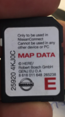 Nissan Connect 3 Sat Nav Navigation Sd Card Europe Map 25920 4Kjoc