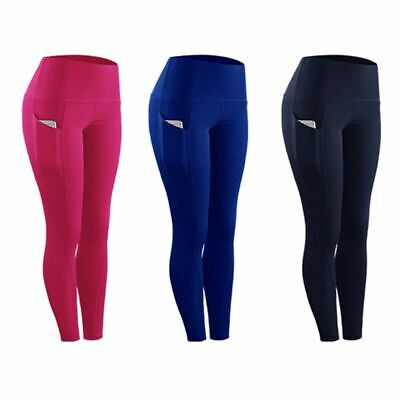 Women Gym Sports Fitness Compression Tights Pants Yoga Long Trousers With Pocket