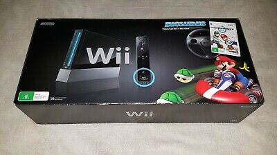Nintendo Wii Mario Kart Pack Black Console !! GREAT CONDITION !!