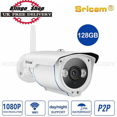 SRICAM 1080P Wireless HD WiFi IP Network Camera Outdoor Home Security UK