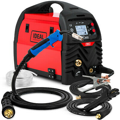 MIG Welder Welding machine Predefined automatic settings 200A IDEAL MIG 205