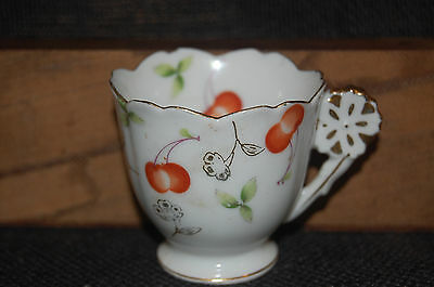 UCARGO Demitasse Cup ONLY - Made in Occupied Japan - Cherries & Foliage
