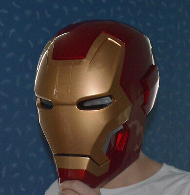 Wearable  1:1 Iron Man MK42 43 helmet Strong ABS LED Eyes Decor Prop Cosplay
