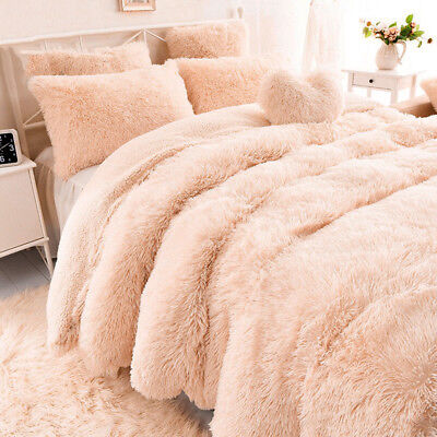 NEW Solid Long Pile Throw Blanket Soft Faux Fur Warm Shaggy Cover 130*160CM
