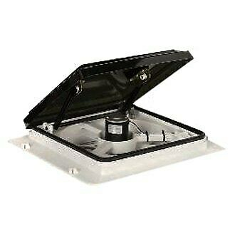 "Maxxair Maxxfan 14"" x 14"" Roof Vent w Smoke Manual Lid & 4-Speed Fan"
