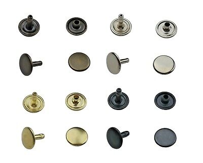 Hollow Rivets Double Head 6mm,7mm,9mm,12mm Steel Leather Textiles Pockets Fabric