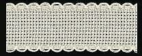 Zweigart 1 Metre Hessian Aida Band 2.5cm/1 Inch With a Scalloped Edging